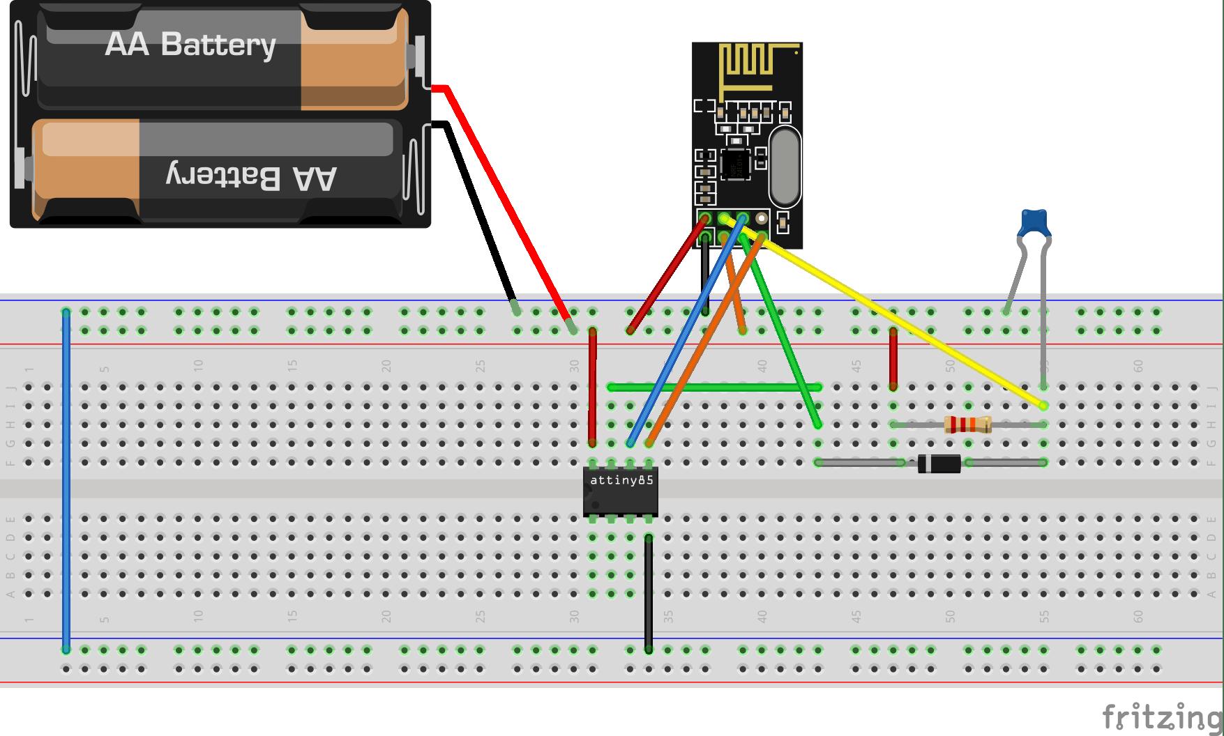 nRF24L01+ with ATtiny85 3 Pins