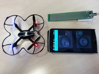 Control quadcopter from your phone in 30 minutes!