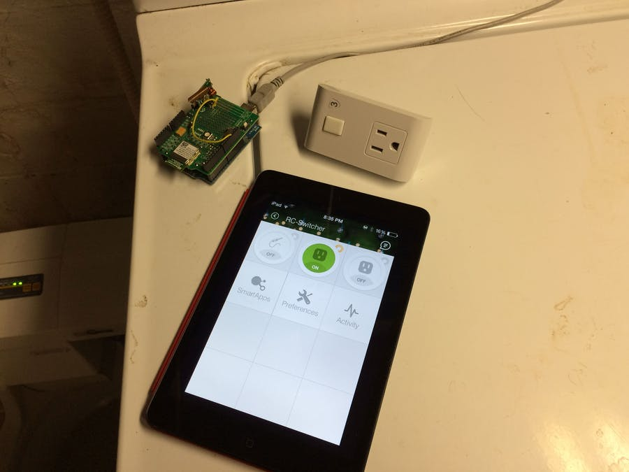 SmartThings RC-Switch 315/433mhz Outlet Bridge