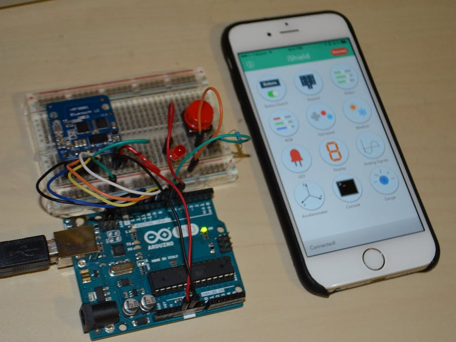 iShield and nRF8001 Breakout example