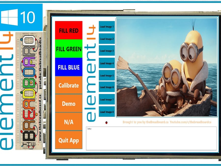 Raspberry Pi 2, 480*320 TFT LCD Displays Windows 10, SPI