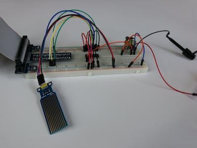 High Sensitivity Water Sensor on MCP3008