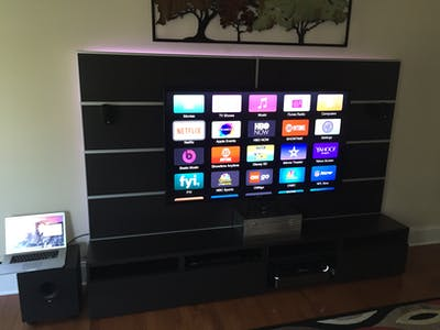 Awesome LED Entertainment Center