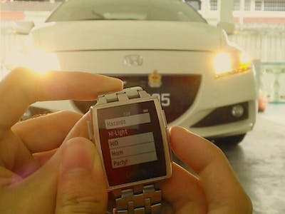Smartwatch car remote