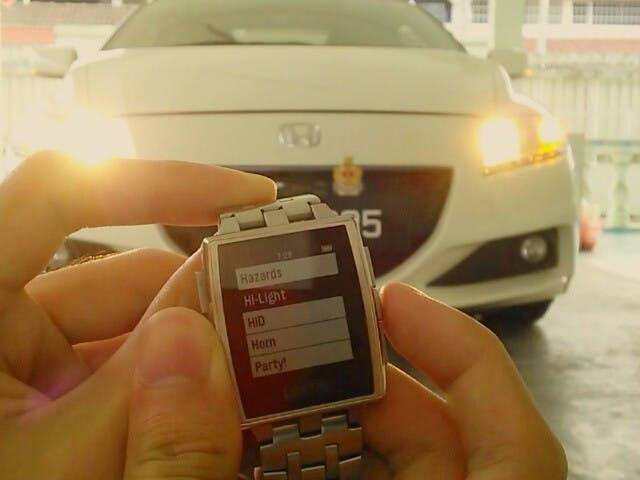 Smartwatch car remote - Hackster io