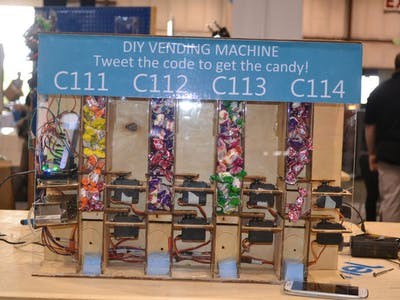 28 diy projects arduino project hub simply the machine has four types of candies and each type has its special code you should tweet with this special code to get your candy solutioingenieria Image collections
