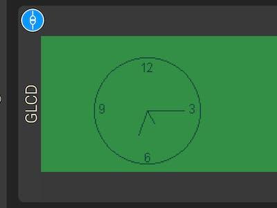 Analog Clock using 1Sheeld Graphical LCD