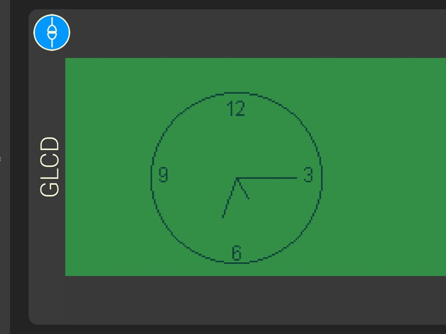 Analog Clock using 1Sheeld Graphical LCD
