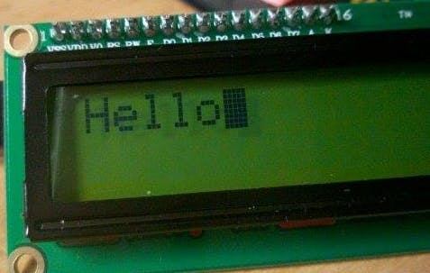 Character LCD over I2C