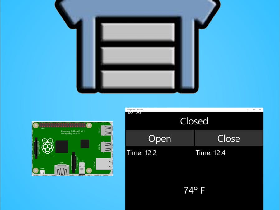 Garage Door powered by Win10, AllJoyn and Raspberry Pi