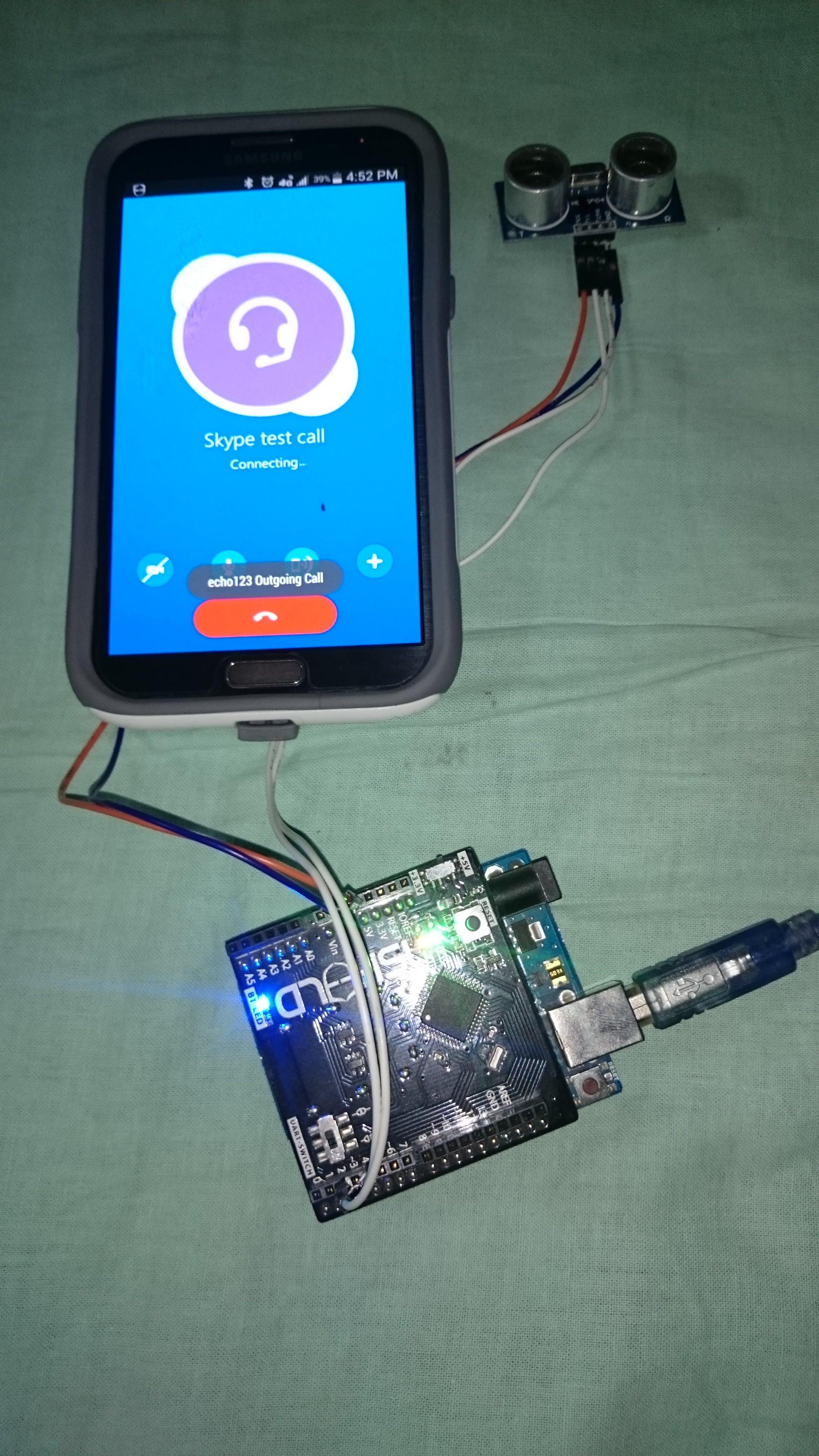 Home surveillance system using skype calls