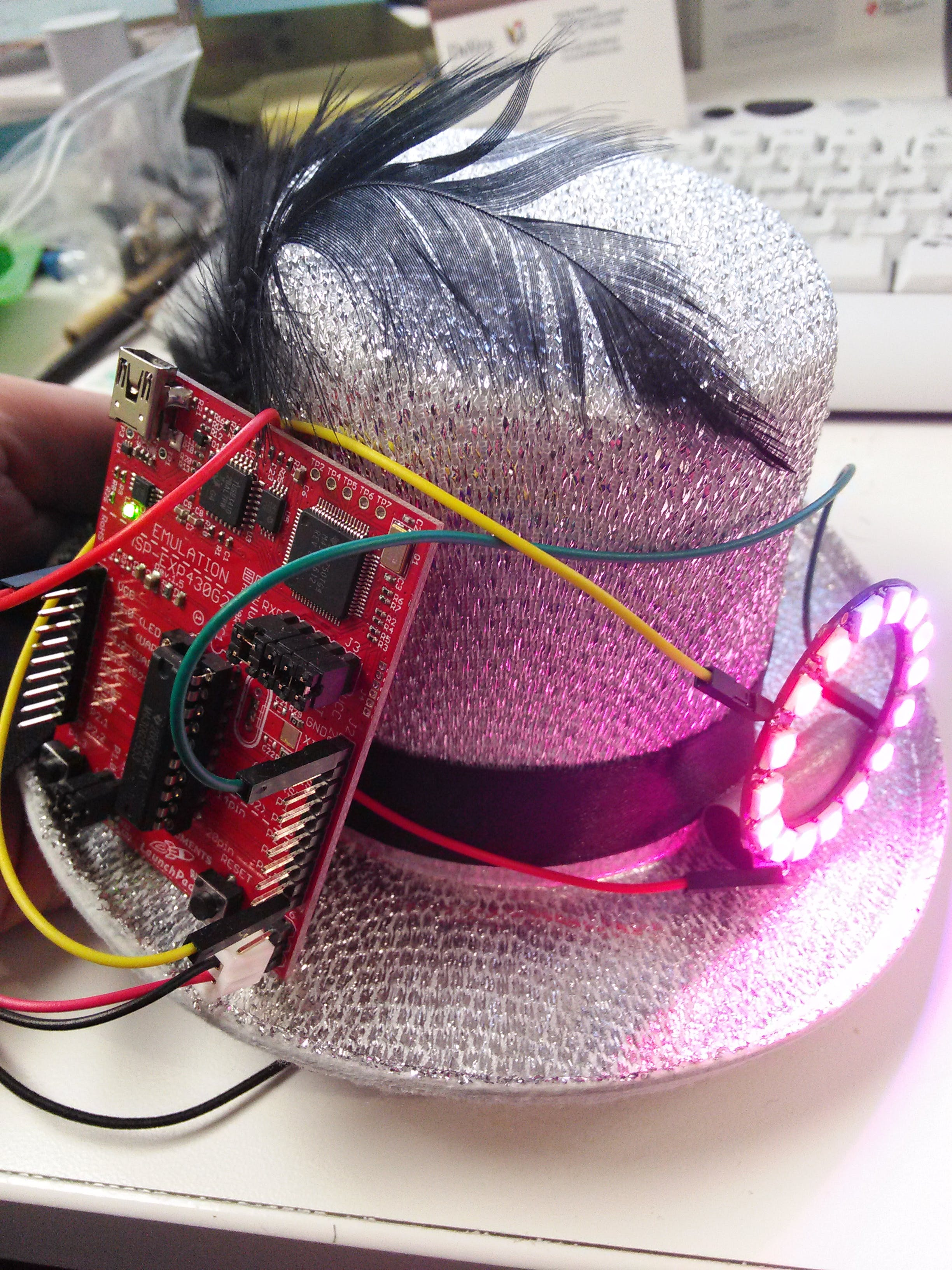 LED Hat with MSP430 and Neopixels