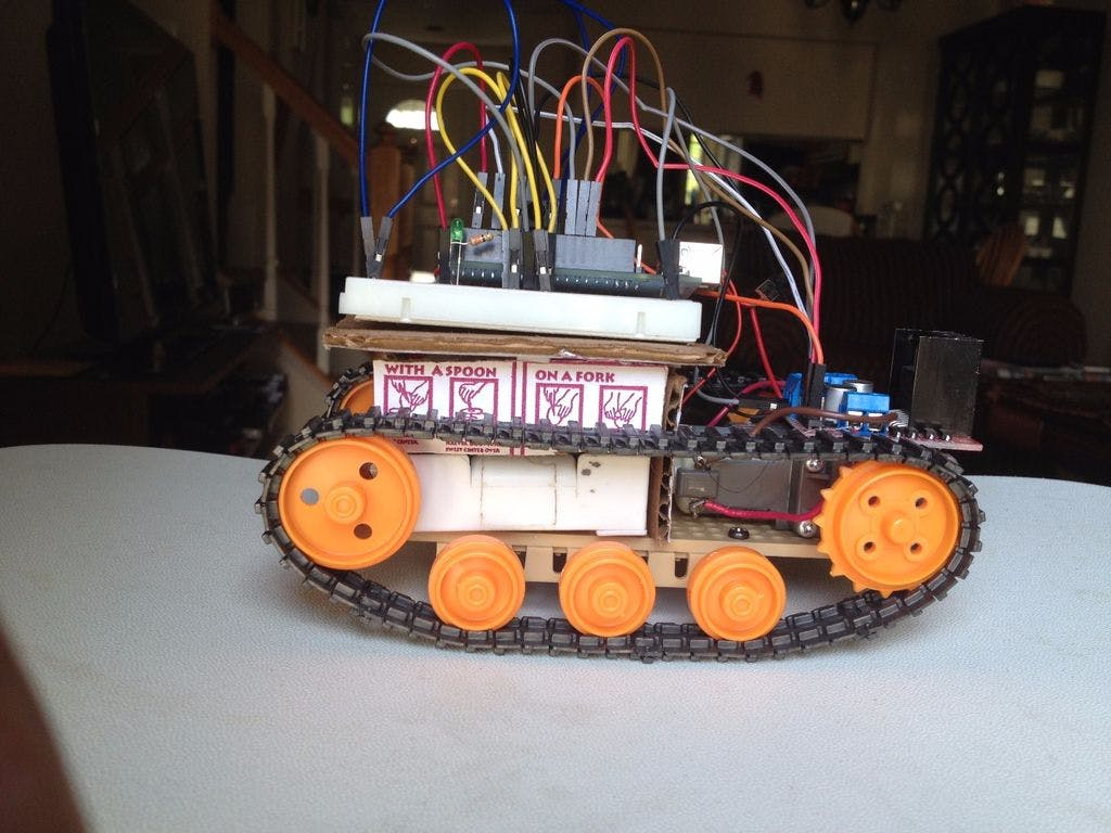 Infrared controlled robot