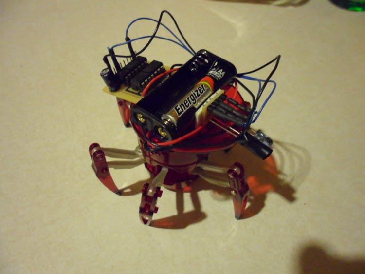 Hacking the Hexbug Spider to be an Autonomous Robot