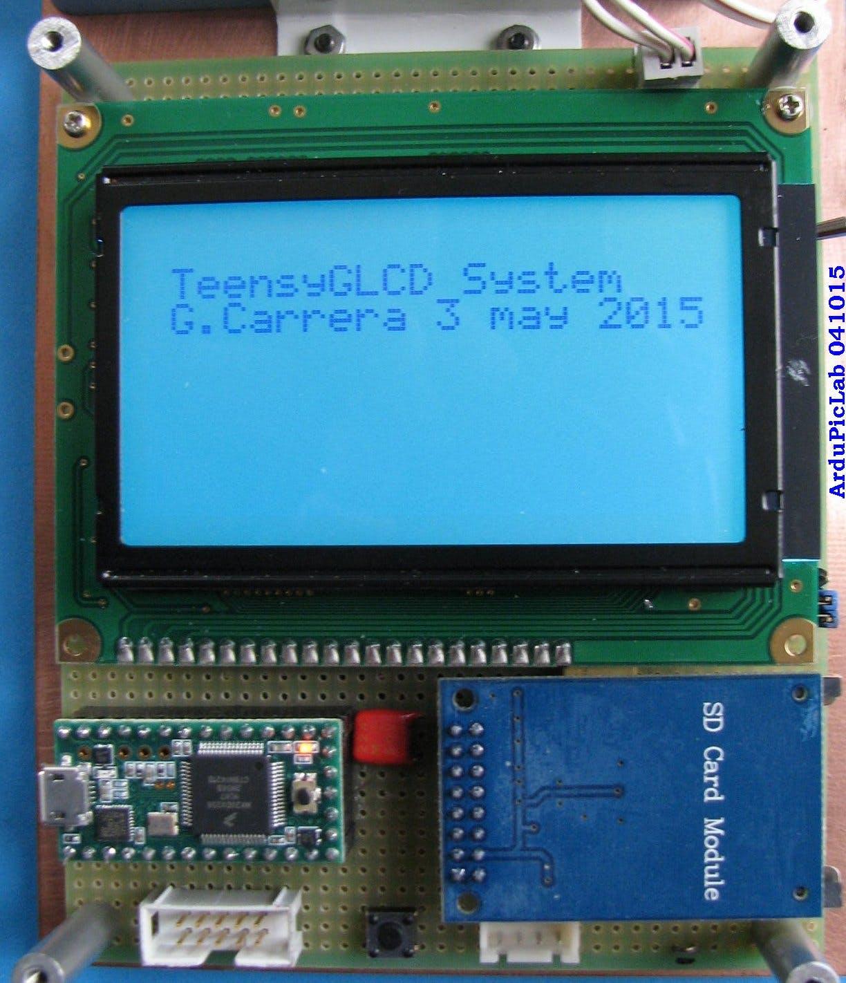 A 128x64 GLCD for Teensy 3.x