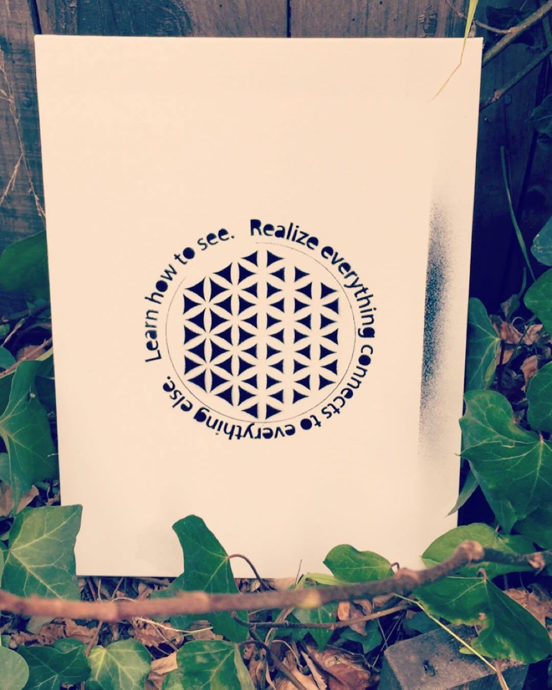 Stencil Flower Of Life