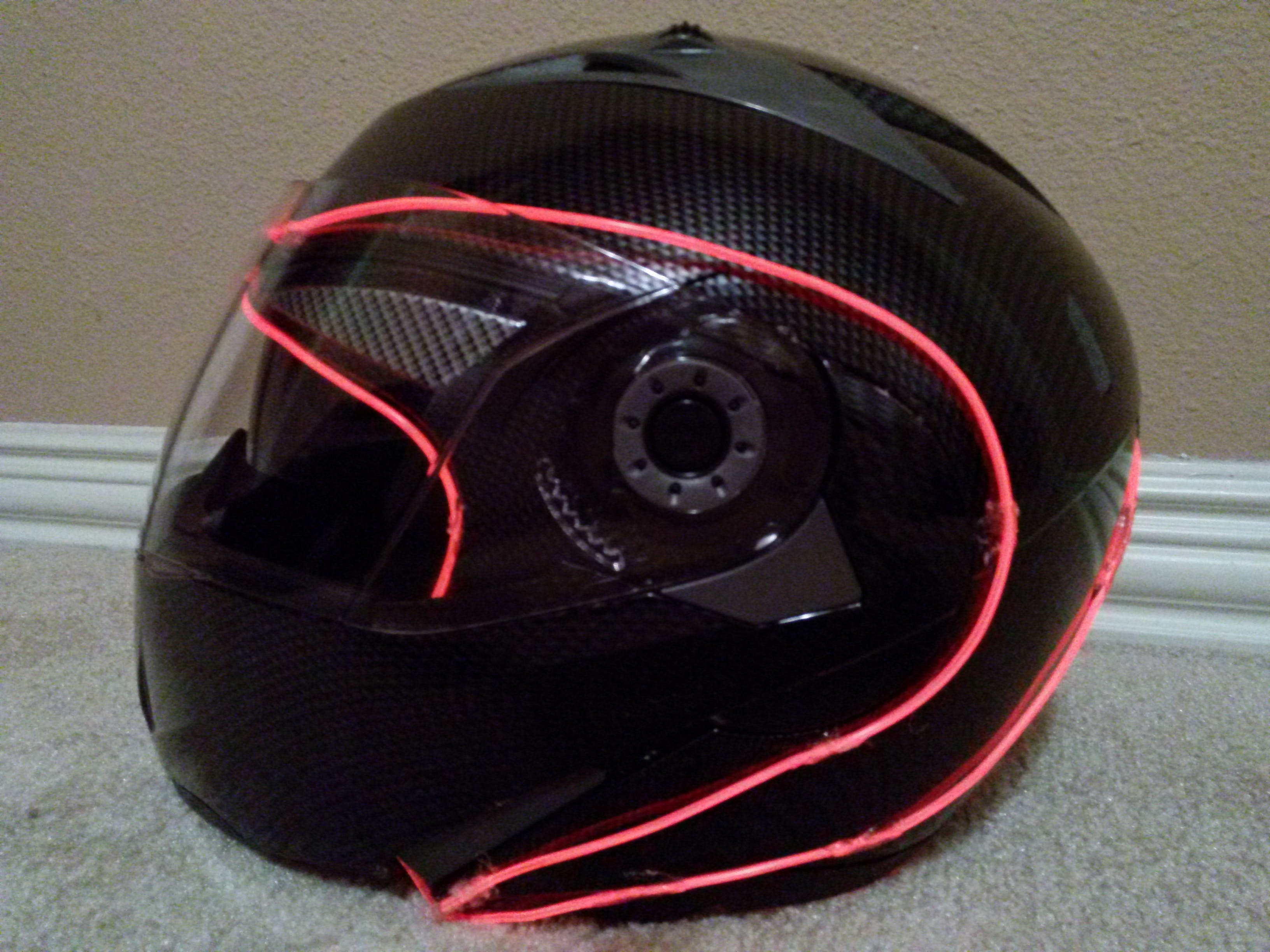 EL Wire Motorcycle Helmet