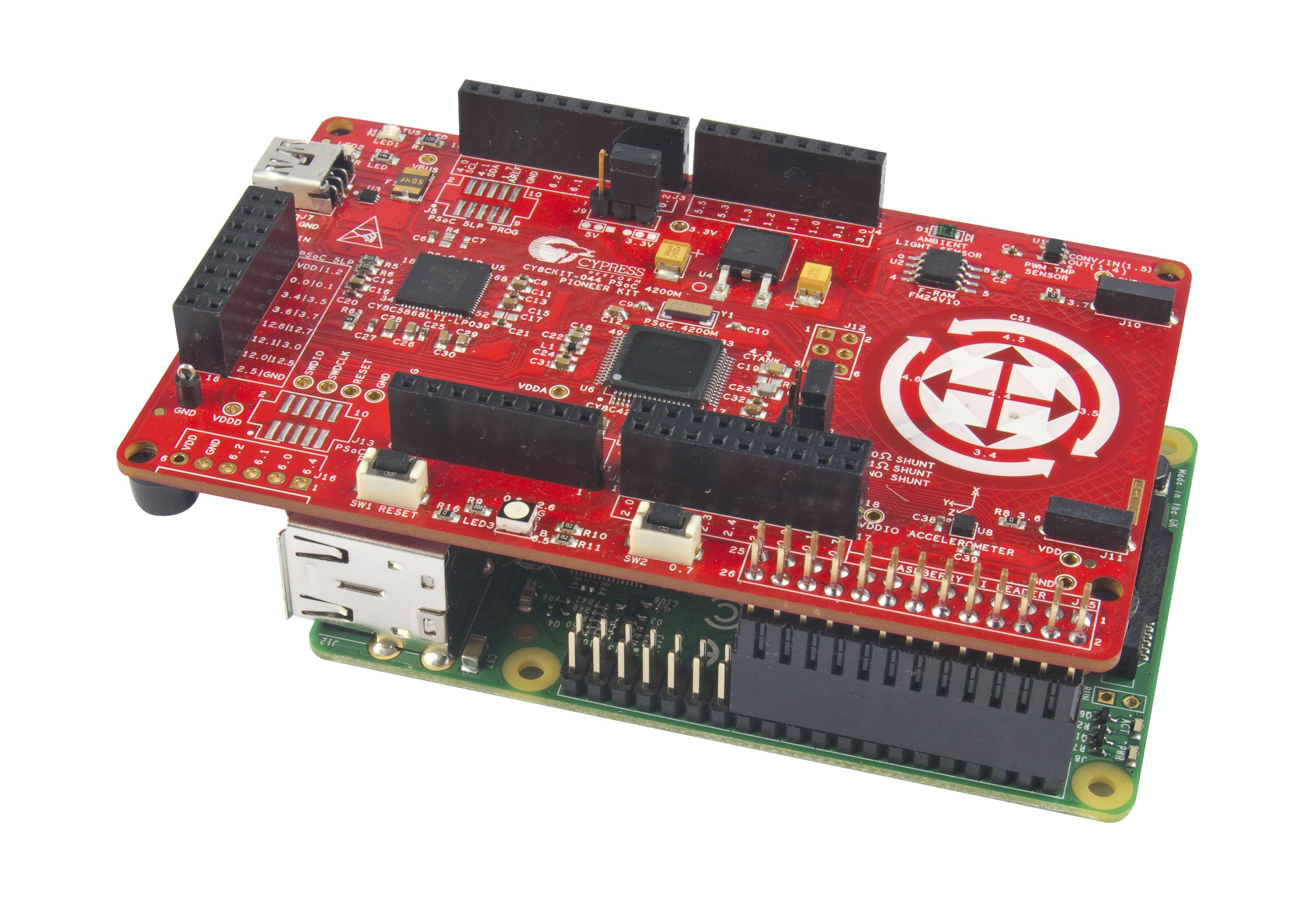 PSoC 4M + RasberryPi Sensor Hub