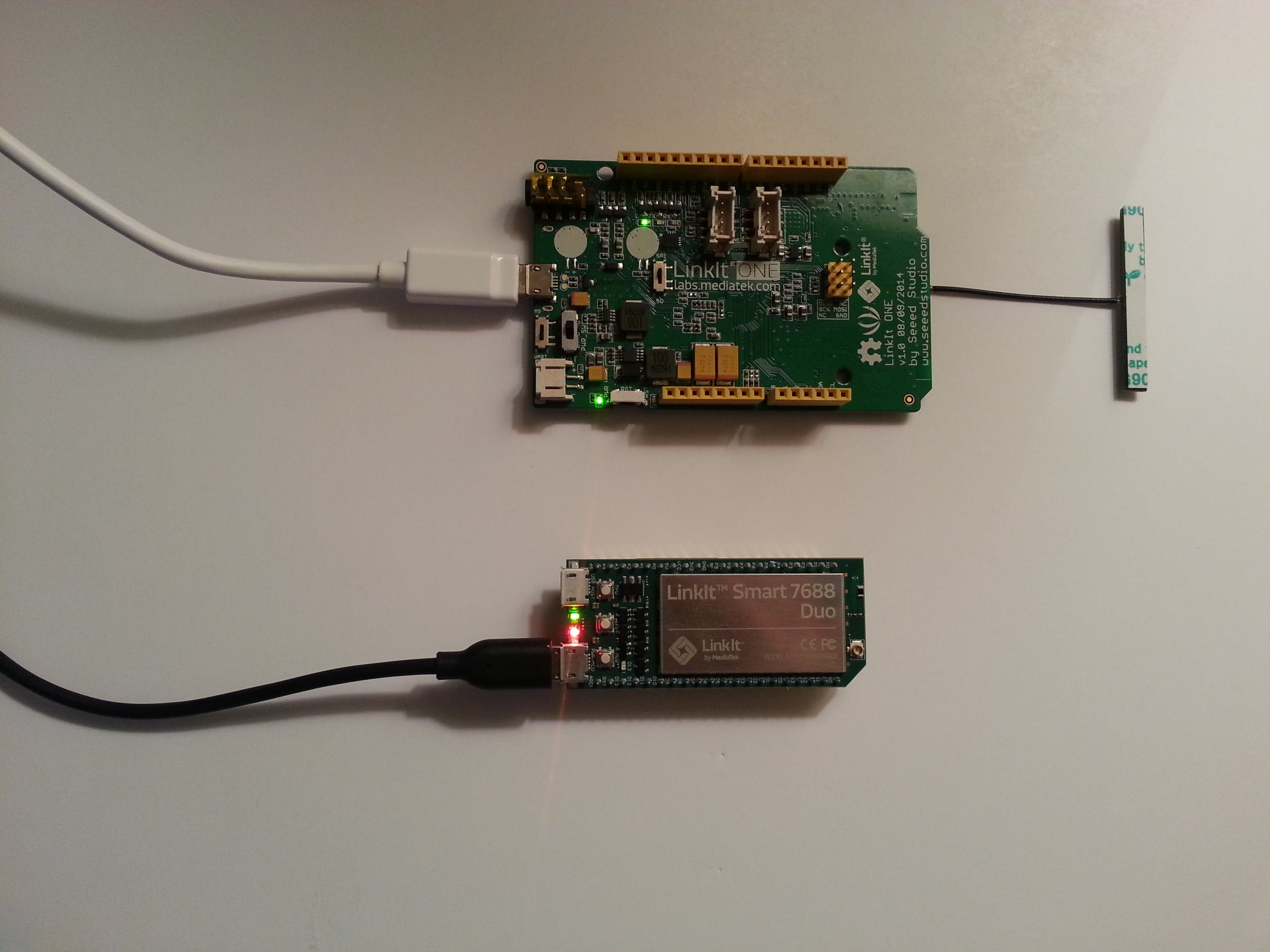 Linkit SMART/ONE sensor monitoring