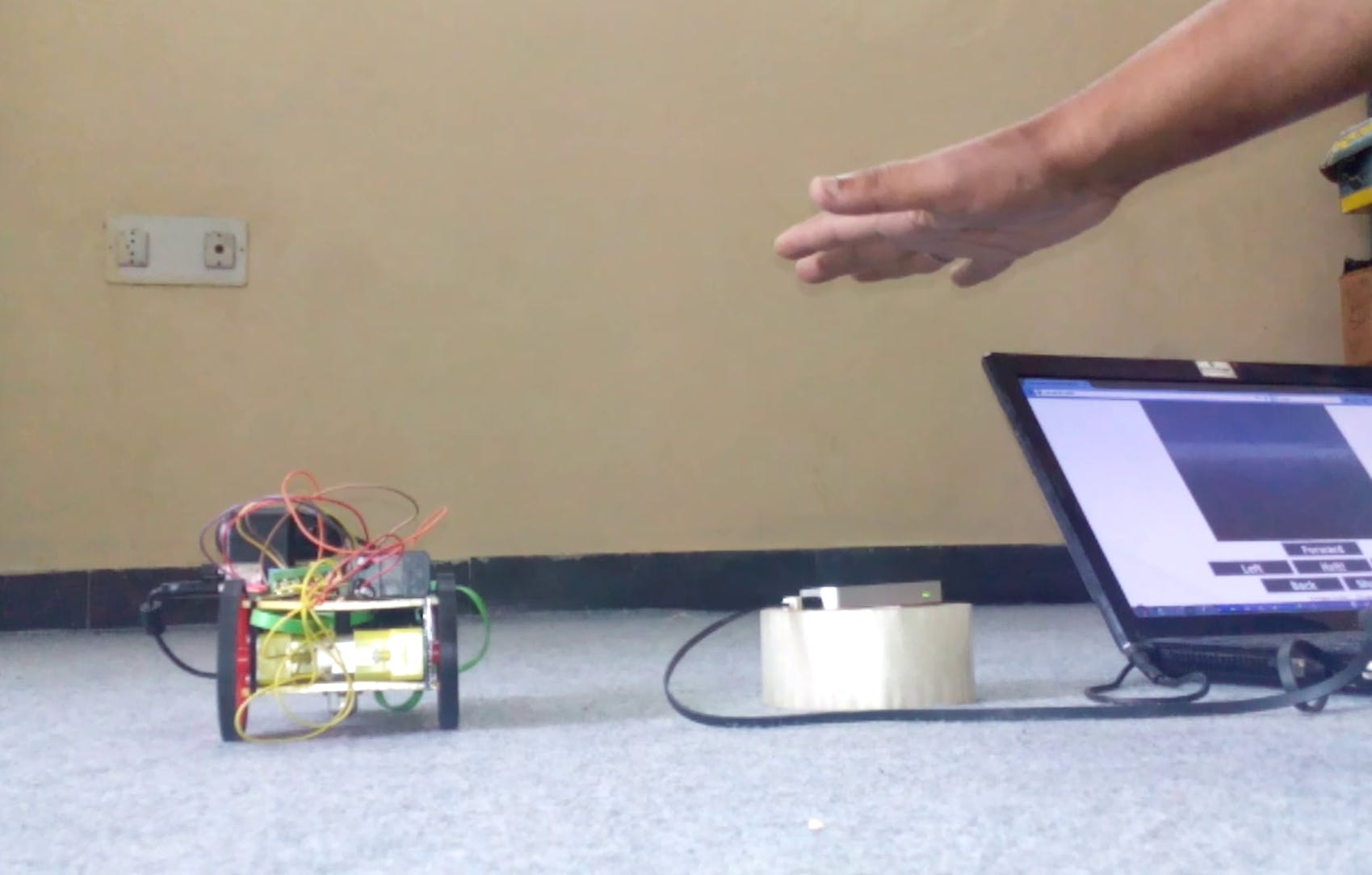 Leap Motion Controlled Remote Search and Disposal Robot