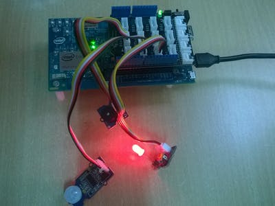 Burglar Alarm with Sending SMS and Email from IoT device