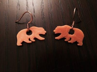 Cal Bear Earrings