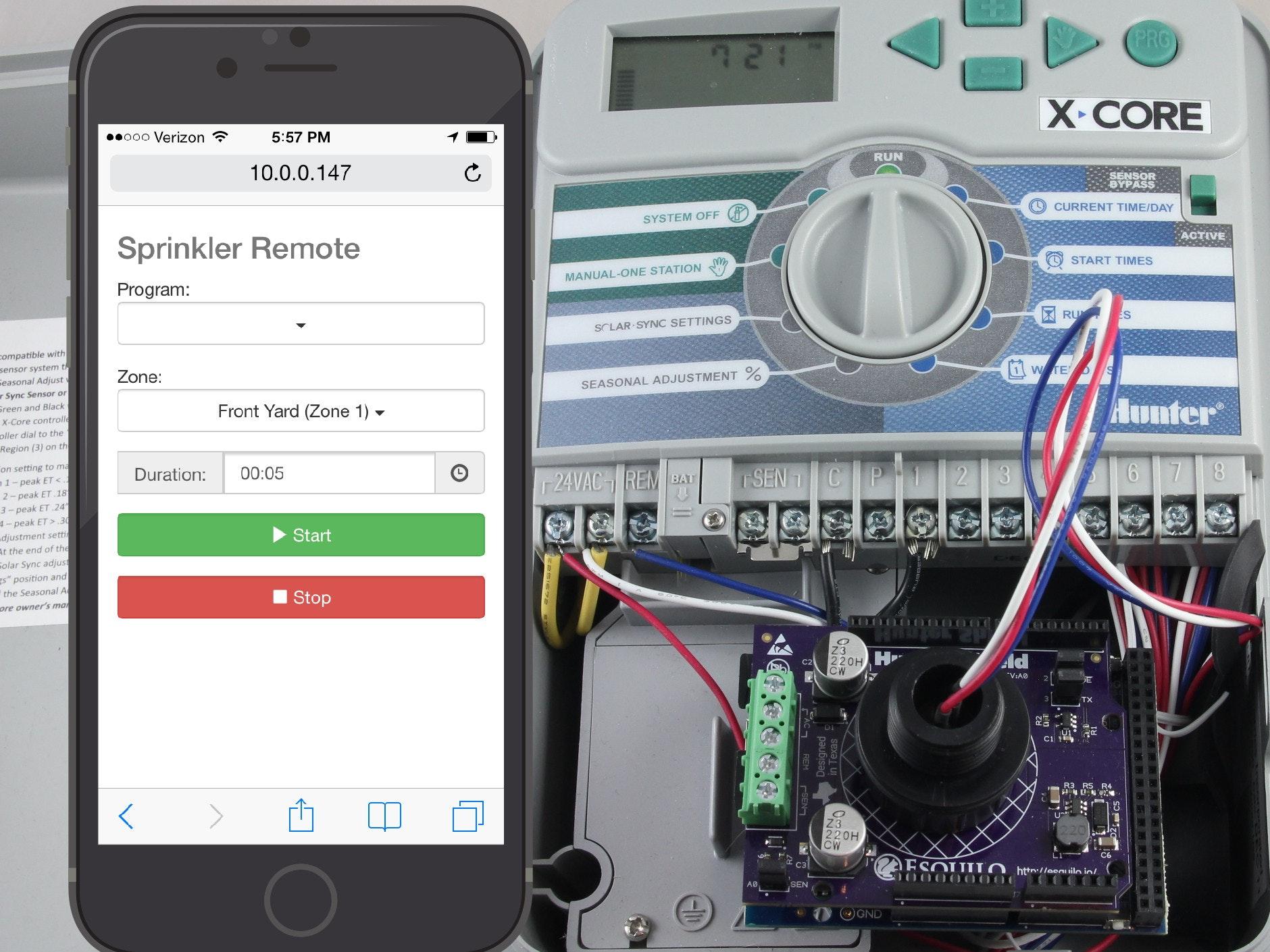 Hunter Xc Sprinkler Wiring Wire Data Schema Orbit Diagram Wifi Remote Control Hackster Io Rh Lawn System Solenoid For Valve