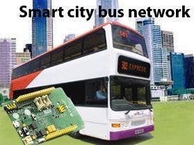 Smart city bus network