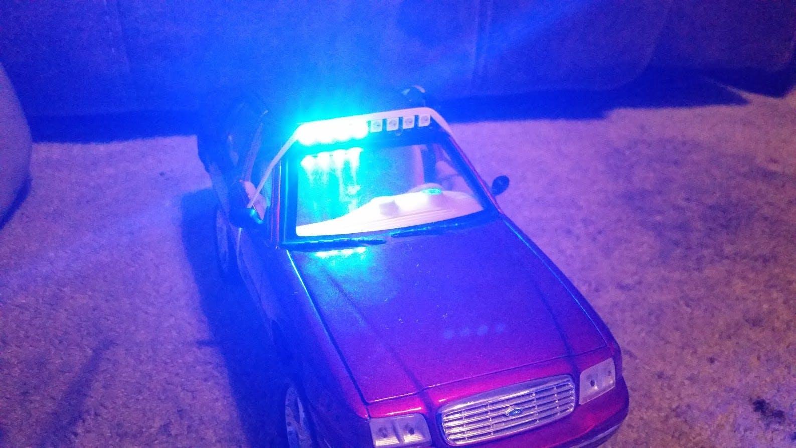 Led Emergency Lights Using Ws2812 Rgb Led Module