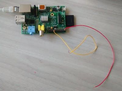 Raspberry PI push button to IoT PaaS