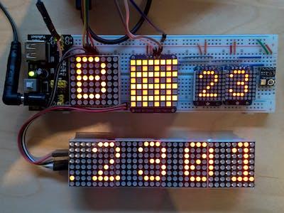 Windows 10 IoT Core LED Matrix Graphics Library