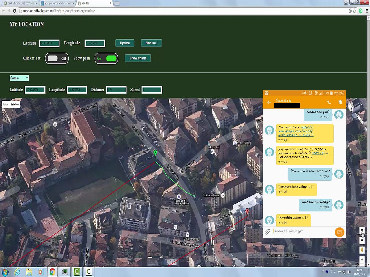 Sandro: Your Personal GPS Assistant