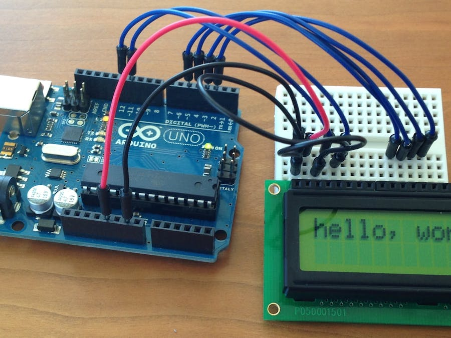 Lcd Display in Real Time  - Arduino Project Hub
