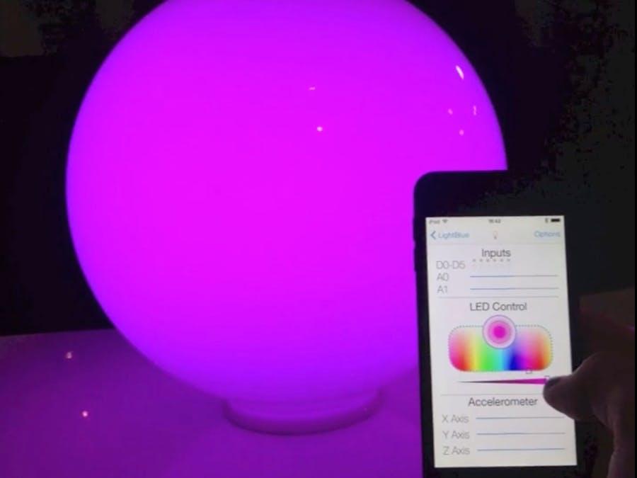 Smartphone controlled mood light - Hackster io