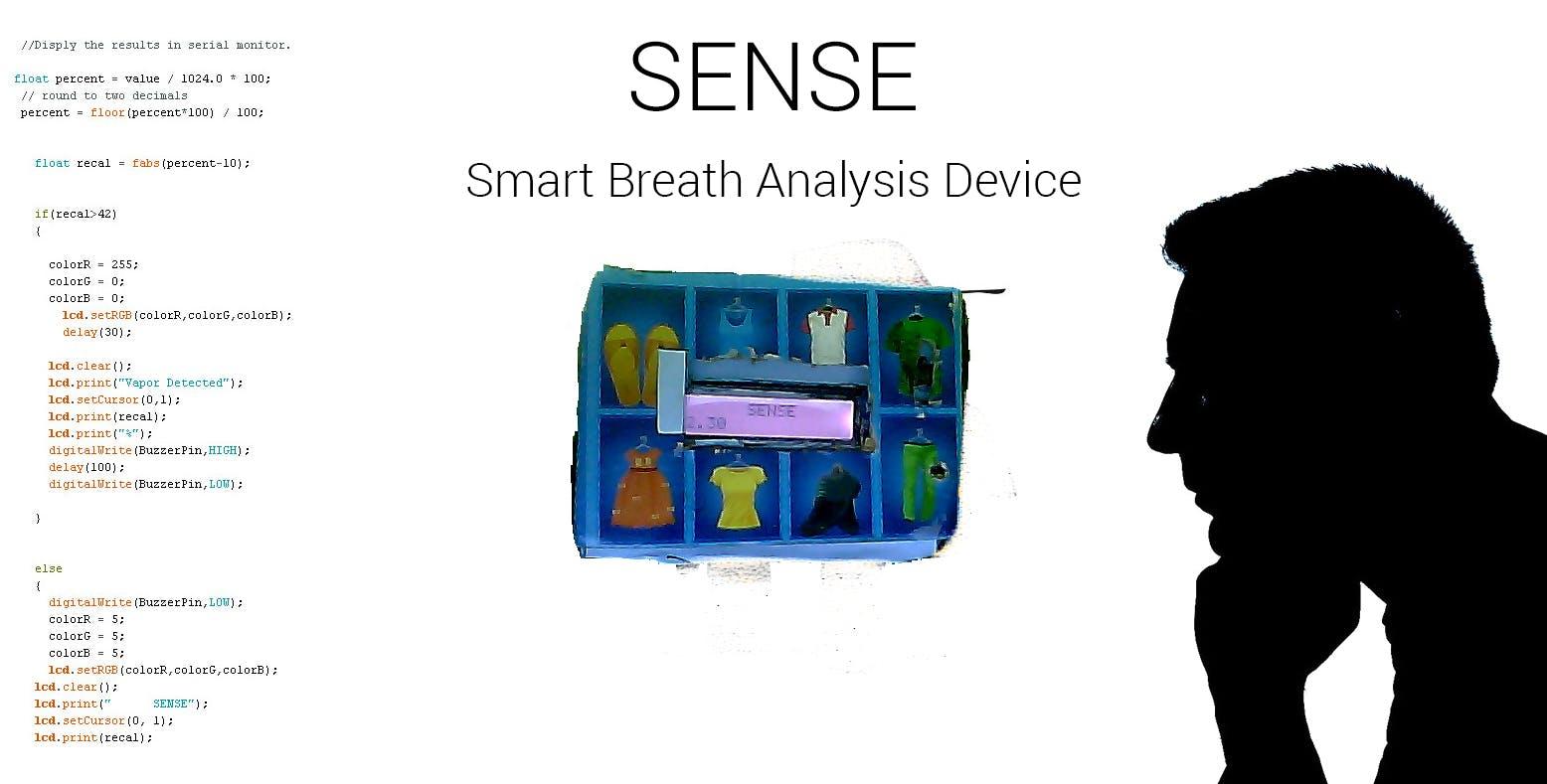 SENSE : Smart Breath Analysis Device (A Smart Breathalyzer)