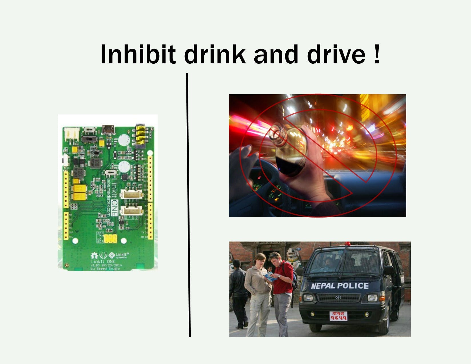 Inhibit Drink and Drive using LinkIt ONE