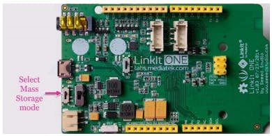 LinkIt ONE in Mass storage mode for firmware update