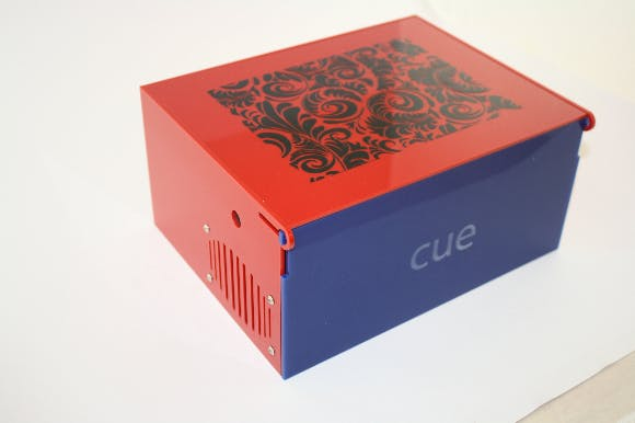 Final Laser Cut Box design with vinyl cut decoration on top