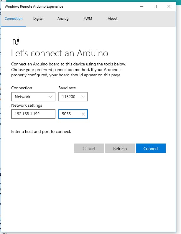 Windows Remote Arduino, Yun WiFi and NetworkSerial - Arduino Project Hub