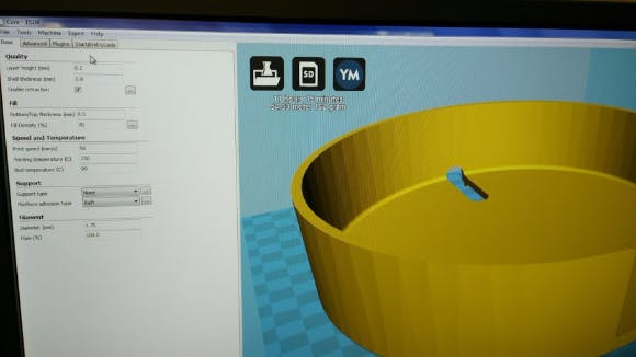Print settings for ABS filament (pillbox base)