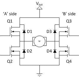 4 transistor H-bridge