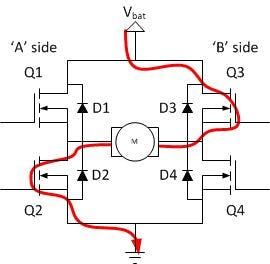 Reverse direction switching