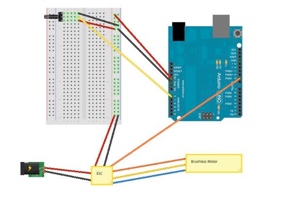 Arduino ESC connection