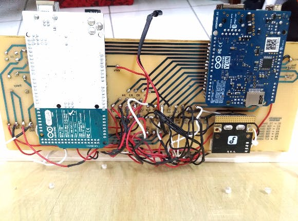 My attempt: untidy and messy connection for connectivity check to ensure functional with sensors