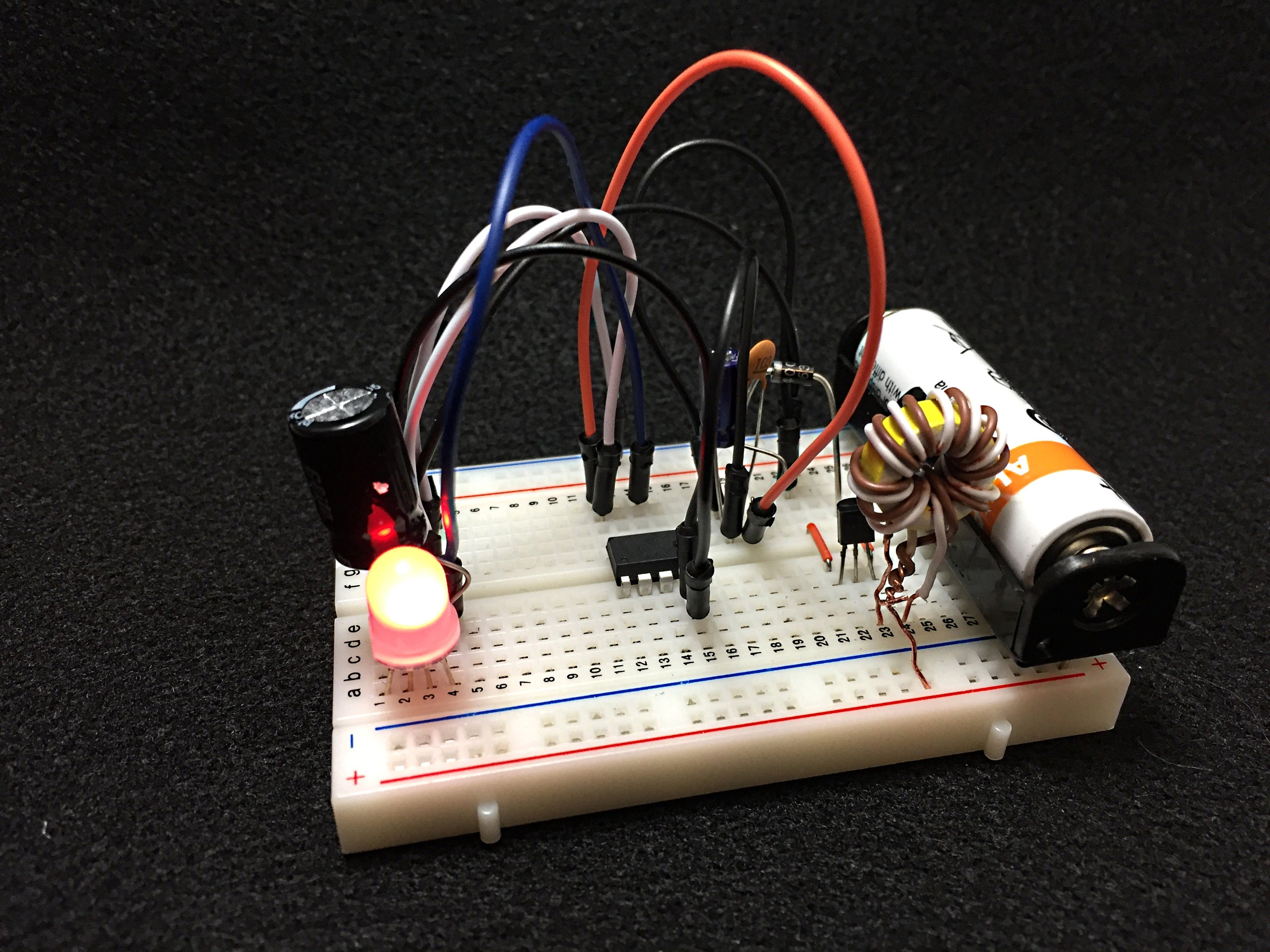 Circuit with the lights on