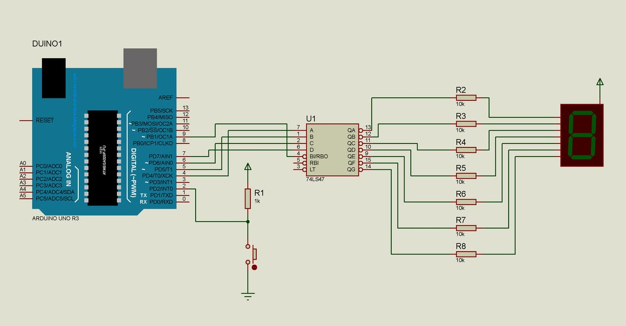 Arduino Uno Interrupt Demo With 7 Segment Display Decoder Bcd To