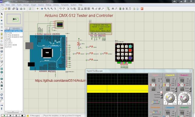 Arduino DMX-512 Tester Controller - Hackster io