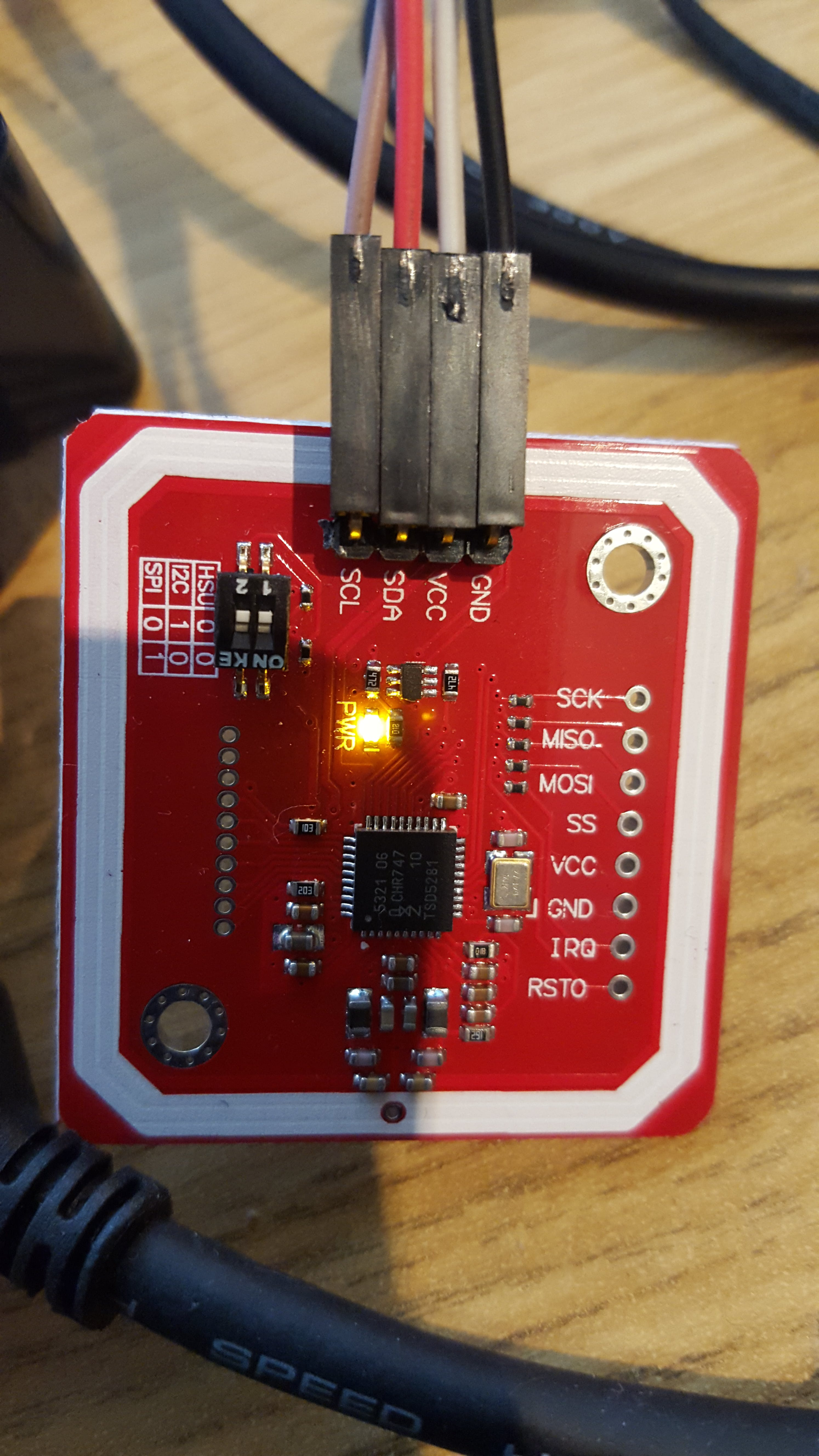 RFID serial TTL connection