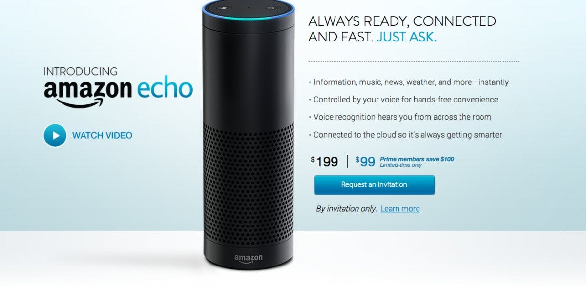 "The Amazon echo (not anymore ""By invitation only"")"