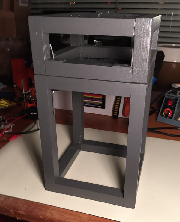The frame after it was assembled and painted